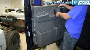 how to install remove front door panel chevy express gmc savana