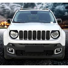 renegade jeep black matte black angry bird headlight bezels for jeep renegade 2015