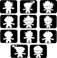19 refill stencils 11 ninja turtles glitter tattoo