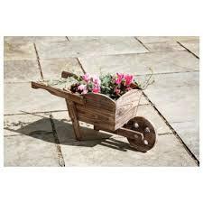 Wooden Wheelbarrow Planter by Buy Wooden Wheelbarrow Planter From Our Planters Range Tesco