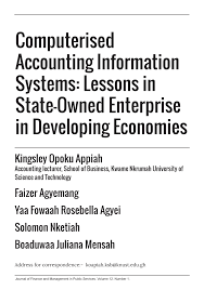 computerised accounting information systems lessons in state