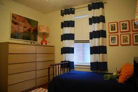 White And Navy Striped Curtains Blue And White Striped Curtains Bedroom Inspirations With Pictures