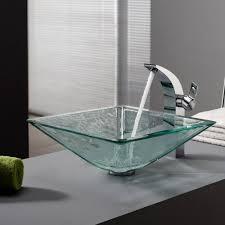bathroom trough sink vanity white porcelain square vessel sink