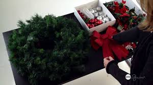 how to decorate your christmas wreath on a budget youtube