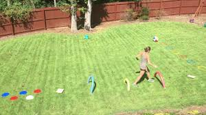 back yard obstacle course big kid and version youtube