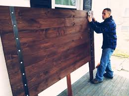 Iron And Wood Headboards Best 25 Rustic Headboards Ideas On Pinterest Rustic Headboard