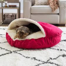 Hooded Dog Bed Wow Works Uggs Like Slipper Pet Bed Hayneedle