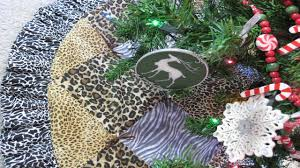 Quilted Christmas Tree Ornaments Wild Animal Quilted Christmas Tree Skirt Handcrafted Christmas