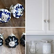 Porcelain Kitchen Cabinet Knobs by Cabinet Knobs Dresser Knobs Blue And White Porcelain