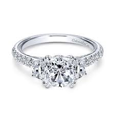 3 diamond rings 14k white gold diamond 3 stones 14k white gold engagement ring
