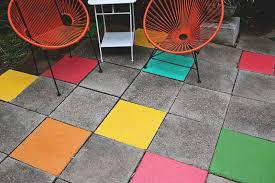 Outdoor Floor Painting Ideas Painted Tile Patio U2026 An Easy Fun Update Www Abeautifulmess Com