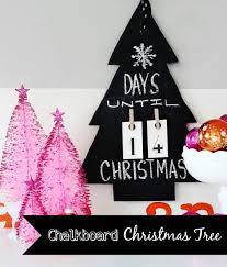 Christmas Craft Decor - chalkboard christmas tree thistlewood farm