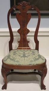 Queen Anne Style by File American Queen Anne Style Slipper Chair C 1740 60 Walnut
