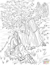 jesus calls philip and nathanael coloring page free printable