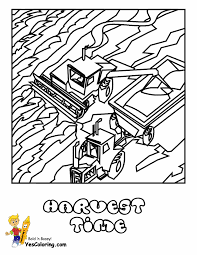 hard coloring page of tractor printable at yescoloring http www