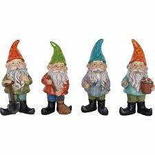 nouveau ornament polyresin small gnome 4 pack garden decor