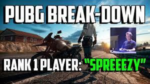 1 pubg player pubg breakdown rank 1 player spreeezy playerunknown s