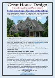 custom home design tips custom home design important guides and tips by great house design