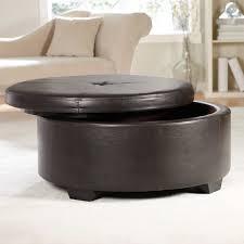 cushion coffee table with storage ottoman charming round storage ottoman coffee table design ideas