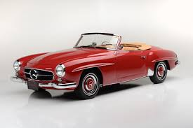 convertible mercedes red countdown to barrett jackson las vegas 1959 mercedes benz 190sl