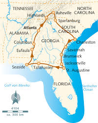 Okefenokee Swamp Map Wanderreise Die Schätze Der Südstaaten Usa Wikinger Reisen