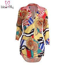 print blouses autumn tunic tops v neck shirt floral print