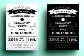 black and white graduation party invitations template for card or