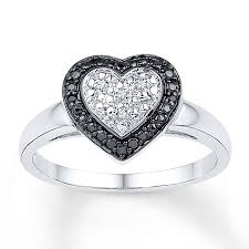 heart ring jared heart ring diamond accents sterling silver