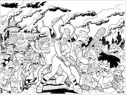 futurama coloring pages bestofcoloring com