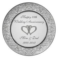 wedding anniversary plates 25th wedding anniversary melamine plate 25 wedding anniversary