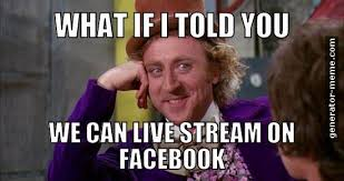Meme Live - tips for using facebook live speakerbox pr