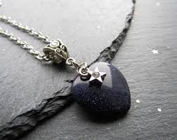 black heart necklace images Black heart necklace etsy jpg