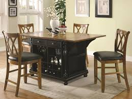 height of kitchen island counter and bar height tables slater black brown