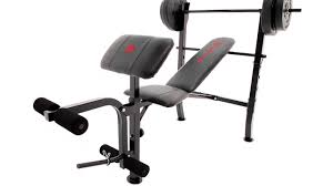 marcy standard weight bench 80lb weight set mkb 2081 youtube