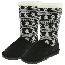womens paw boots size 11 paw print knit boots the rescue site