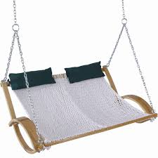 Double Swing Pawleys Island 4 Ft Polyester Curved Arm Double Swing