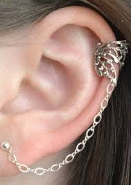 earring with chain to cartilage cartilage chain search clothes shoes accessories hair