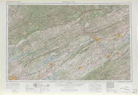 Tennessee Kentucky Map by Johnson City Topographic Maps Tn Va Ky Nc Usgs Topo Quad