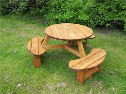 heavy duty round picnic table round picnic table six seater space saving picnic table