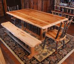rustic table chair and bench set niangua furniture