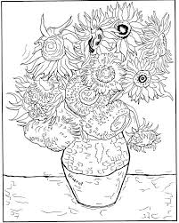 162 best famous painting coloring pages דפי צביעה על פי יצירות