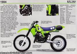 twinshock motocross bikes for sale kawasaki kx250 1980 89 spotters guide classicdirtbikerider com
