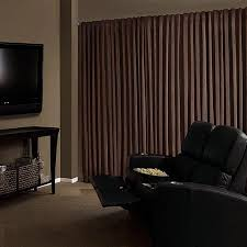 Theater Drape Absolute Zero Velvet Blackout Home Theater Curtain Panel Walmart Com