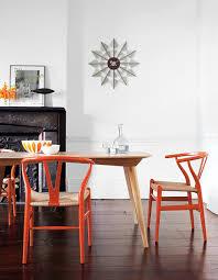 Orange Dining Room Sets Wishbone Chair Interiores Pinterest Wishbone Chair Room And