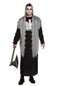 Grim Reaper Halloween Costumes Men U0027s Grave Digger Fancy Dress Halloween Costume Grim Reaper