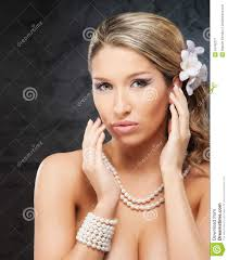 pearl necklace women images Portrait of a young woman in pearl jewelry stock image image of jpg