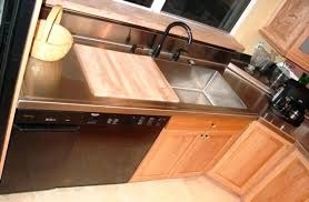 stainless steel countertop with built in sink built in cutting board countertop stainless steel with built in sink