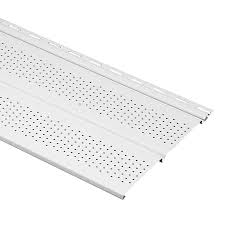 shop georgia pacific 10 in x 144 in white wood grain soffit at