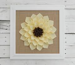 large framed felt flower with burlap flower wall hanging burlap