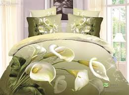 Olive Bedding Sets Wholesale 3d Calla Bedding Set Duvet Cover Bedsheet